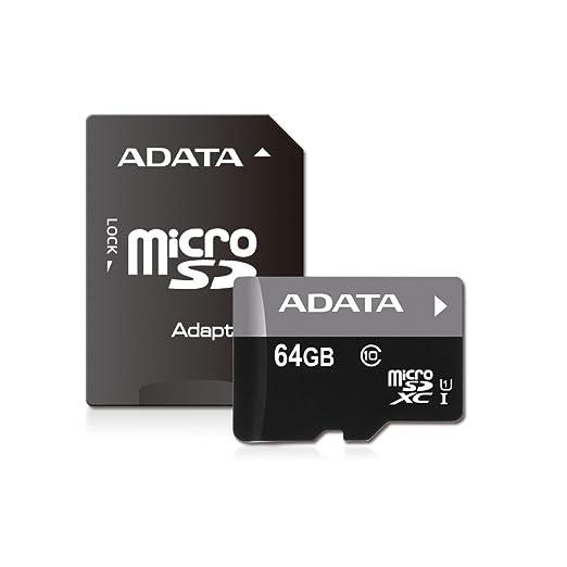 153 opinioni per Adata Micro SDXC Scheda di Memoria da 64 GB, UHS-I Class10, Nero