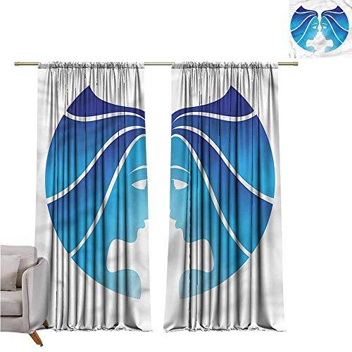 - zojihouse Zodiac Gemini Thermal Insulated Blackout Curtains 62