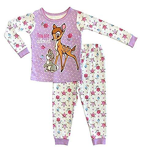 Disney Bambi /& Thumper Baby Girls 2pc Cotton Tight Fit Pajamas