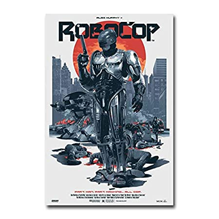 NOVELOVE Wand Kunst Bilder Robocop Film Poster Printcanvas Malerei Sitzt Ohne Rahmen 20 x 30 cm