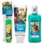 Ready Set Brush Star Wars ''YODA'' Star Wars Battery Powered Spin Toothbrush ! Plus Star Wars Crest ProHealh Jr. Toothpaste & Crest Pro-Health Jr. Star Wars Mouth Wash!