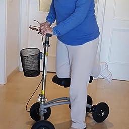 orthomate patinete de rodilla con cesta y 8
