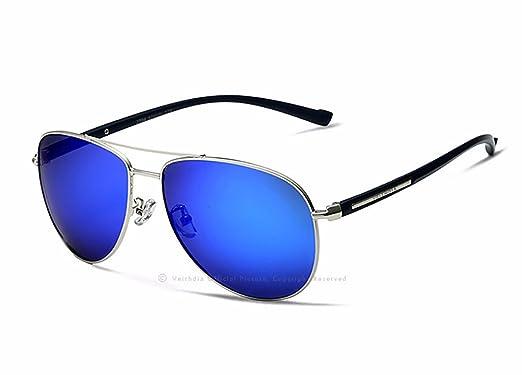 VEITHDIA - Lunettes de soleil - Homme Argenté Sliver-blue f7yOEd