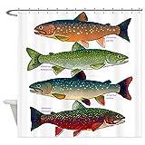Fly Fishing Shower Curtain CafePress 4 Char Fish Decorative Fabric Shower Curtain (69