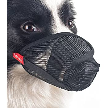 FOMATE Dog Muzzle Anti Licking Biting Proboscis Mesh Mask, Long Nose, Nasal Mouth Cover For Postoperative Surgical Wound