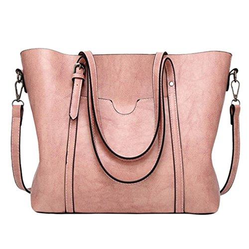 Luoluoluo Borsa a Tracolla Donna moda artificiale in pelle crossbody borsa tracolla borsa casual tote benna borsa Messenger Bag borsa con cerniera Dentellare
