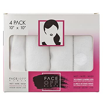 NEW FACE OFF Cloth – Natural, Reusable Chemical Free Cleansing Makeup Removal Cloth that works with just warm water