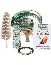 JL Local White Sage Smudging Kit Smudge Stick Gift Kit + Instructions & Blessings (Beginner's Kit)
