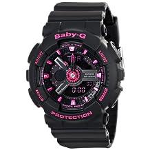 Casio Women's Baby-G BA111-1A Black Plastic Quartz Watch