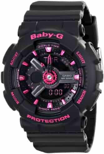 Casio Women's BA-111-1ACR Baby-G Analog-Digital Display Quartz Black Watch