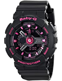 Casio Women's BA-111-1ACR Baby-G Analog-Digital Display...