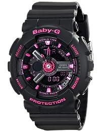 Casio BA-111–1de la mujer acr Baby-G Analog-Digital Display Quartz Negro reloj