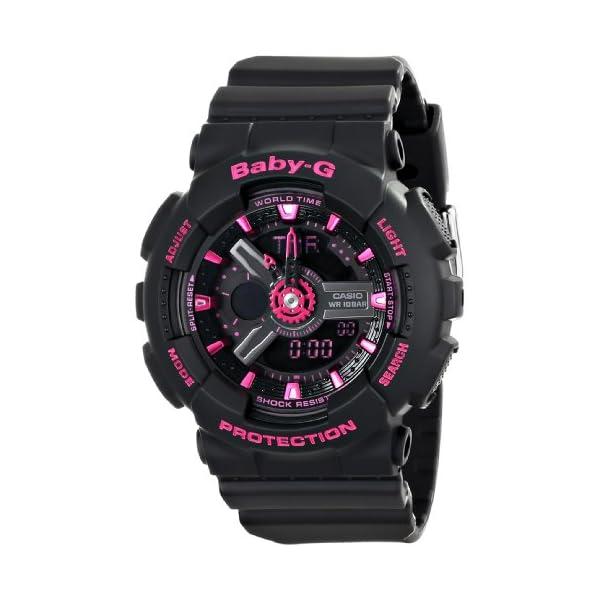 51QxmYh7wwL. SS600  - Casio Women's BA-111-1ACR Baby-G Analog-Digital Display Quartz Black Watch