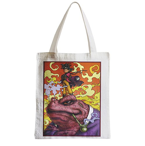 Große Tasche Sack Einkaufsbummel Strand Schüler Naruto sangoku Crossover Dragon Ball Gamabunta manga