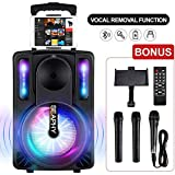 Karaoke Machine with Vocal Removal Function for Kids & Adults, SEAPHY DJ Lights