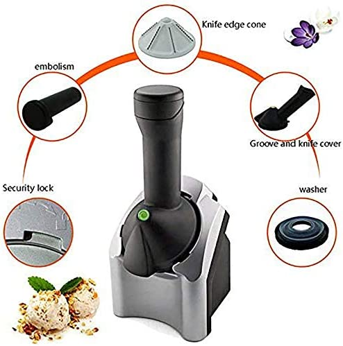 2021 New Upgraded Ice Cream Maker Machine Portable, Soft Serve Ice Cream Machine From Fruit, Home Ice Cream Maker Make Delicious Ice Cream Sorbets And Frozen Yogurt Maker