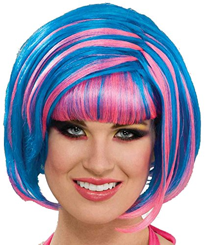 Forum Novelties Women's Candy Swirl Wig, Blue/Pink, One Size (Katy Perry Candy)