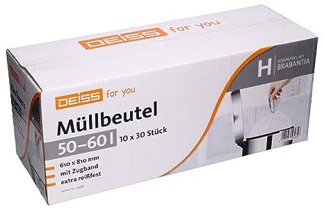 Bolsas de basura DEISS 50 - 60 litros para Brabantia Touch ...