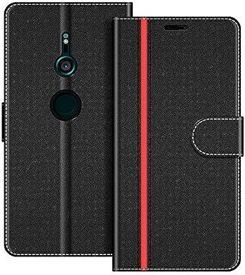 COODIO Funda Sony Xperia XZ3 con Tapa, Funda Movil Sony Xperia XZ3, Funda Libro Sony Xperia XZ3 Carcasa Magnético Funda para Sony Xperia XZ3, Negro/Rojo: Amazon.es: Electrónica