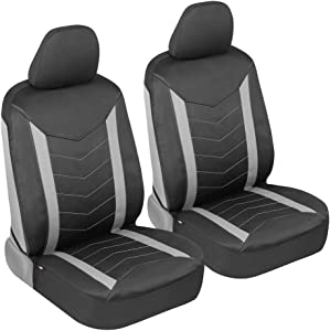 Motor Trend SpillGuard Waterproof Car Seat Covers for Front Seats Only – Padded Neoprene Foam Protectors, Universal Fit for Auto, Truck, Van, and SUV