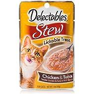 HARTZ Delectables Stew Lickable Wet Cat Treats - Chicken & Tuna - 12 Pack