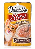 HARTZ Delectables Stew Lickable Wet Cat Treats - Chicken & Tuna - 12 Pack