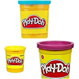 Play Doh Cans Set of 3. Blue, Yellow, Purple