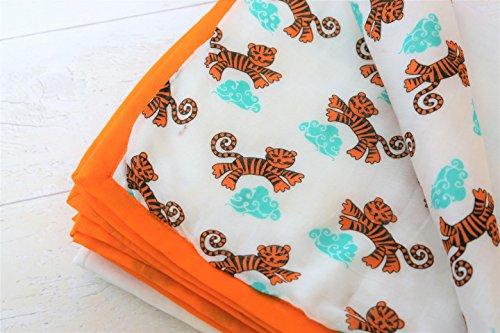 Cheap TURA TURI Muslin Cotton Stroller blanket by 100% cotton, Receiving Blanket, Tiger Dreams