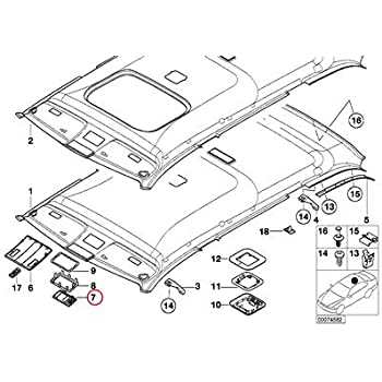 amazon bmw genuine headlining headliner microphone cover light 2001 BMW 325I Engine Diagram pare with similar items