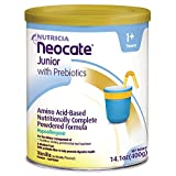 Neocate Junior with Prebiotics, Vanilla, 14.1 oz / 400 g (Case of 4 cans)