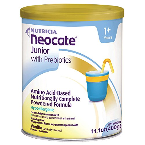 Neocate Junior With Prebiotics, Vanilla,14.1 oz cans (Case of 4 cans)