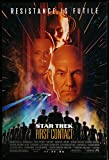 Star Trek: First Contact advance 1sh 96 Jonathan Frakes, Stewart, Spiner, Borg Alice Krige!