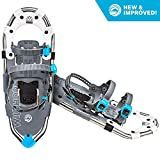 WildHorn Outfitters Sawtooth Snowshoes for Men and Women. Fully Adjustable Bindings, Lightweight Material, Hard Pack Grip Teeth. New for 2019!