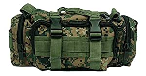 Ultimate Arms Gear Marpat Woodland Digital Camo Camouflage 5 in 1 Tactical Modular Deployment Compact Utility Carry Bag MOLLE Case Heavy Duty Combat Multi-Functional Equipment Survival Assault Transport Compatible Pistol Gun Camera Electronic Device Gear Pack with Adjustable Slip Shoulder Detachable Length Straps Modular PALS Attachment System Shooting Range Patrol