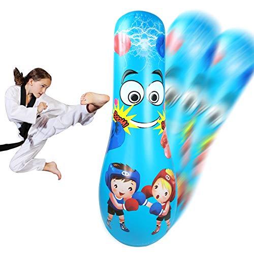 XiaZ Punching Bag for Kids, Boxing Bag for Immediate Bounce Back Heavy Punching Bag for Practicing Karate, Taekwondo…