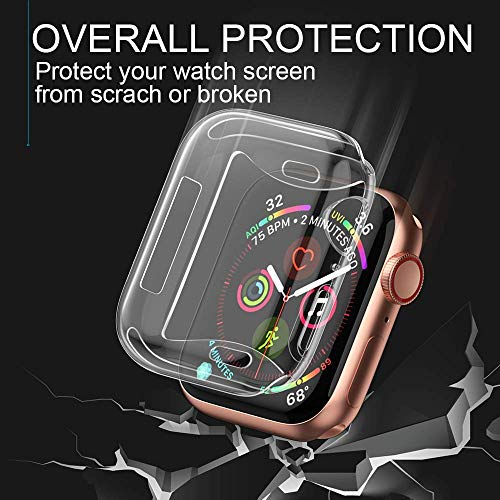 【2 Pack】 CTYBB Compatible with Apple Watch Series 4 Case with Screen Protector, Built in Soft Transparent TPU All Around Protective Cover, Replacement for iWatch Series 4 (40mm) by CTYBB (Image #2)