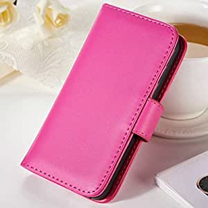 100 pcs/lot Flip PU Leather Case For iPhone 4 4s Deluxe Wallet Style Phone Bag Cover With Photo Frame Card holder Wholesale DHL --- Color:rose