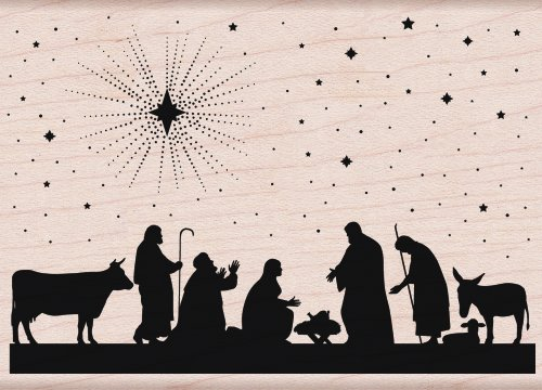 Hero Arts Nativity Woodblock Stamp