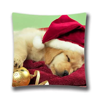 Merry Christmas Puppies.Amazon Com Merry Christmas Pillow Cover Xmas Stuff For