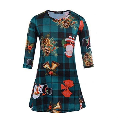 Honghu Mädchen Neuer Knielang kleider Weihnachtsbäume Weihnachten ...