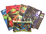 Back To School Licensed Character Set of Pocket Folders, Spiral Notebooks, Pencil Case, and Pencils (Teenage Mutant Ninja Turtles)