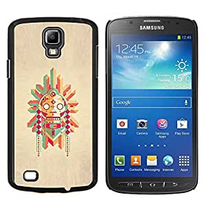 LECELL--Funda protectora / Cubierta / Piel For Samsung Galaxy S4 Active i9295 -- Polo nativo Dibujo estadounidense --