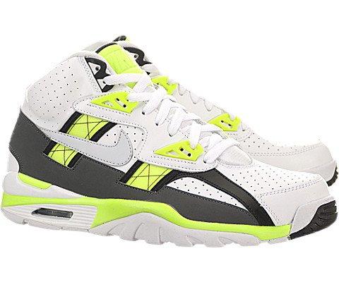 Nike Air Trainer SC High - White / Pure Platinum-Volt-Dark Grey, 11.5 D US