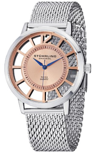 Stuhrling Original Men's 388M.04 Winchester Del Sol Elite Stainless Steel Watch with Mesh Bracelet