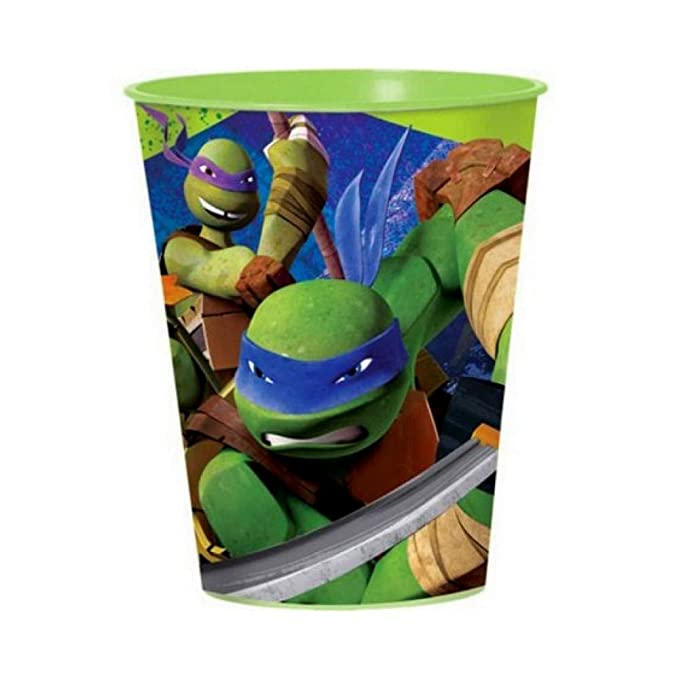 Guizmax Vaso Tortuga Ninja Vaso Plástico Disney Niño GM ...