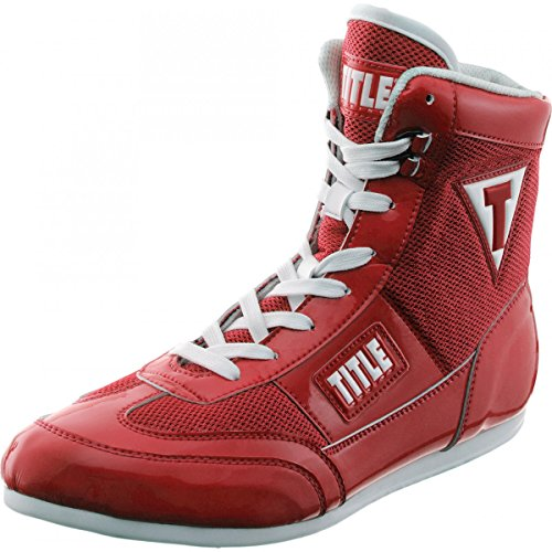 Image of the TITLE Hyper Speed Elite Boxing Shoes, Red, 9.5