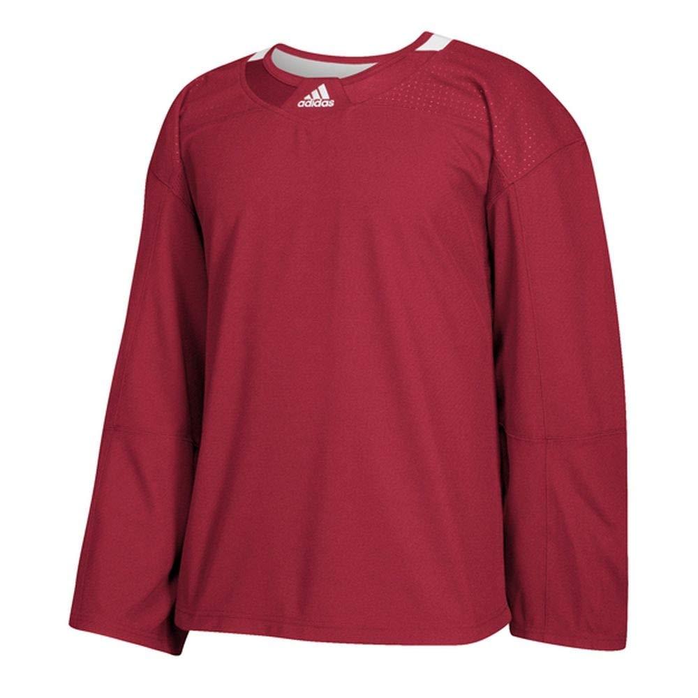 Canadiens Red White 56 Adidas 3Stripe Goalie Jersey Men's Hockey