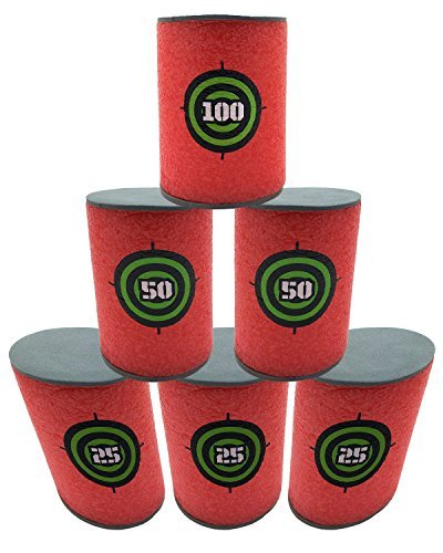 Okallo Products 1 2 Size Foam Can Targets For Nerf Blasters   6 Pack