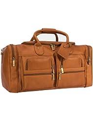 Muiska 22 Inch Leather Duffel Overnight Weekender Bag, Saddle, One Size