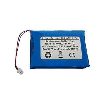 e8b02748498 320mAh/3.7V Replacement Battery for Jabra Pro 9400, Pro 9450, Pro 9460, Pro  9465, 9465 Duo, Pro 9470 and Logitech BH970 Wireless Headsets: Amazon.ca:  ...